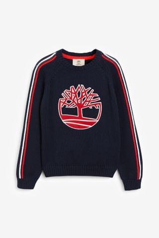 KIDS Timberland Navy/Red Sweatshirt