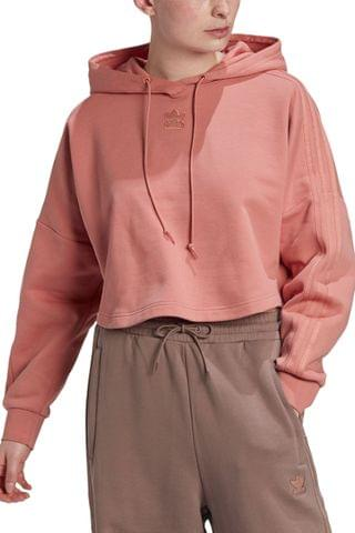 WOMEN adidas Originals New Neutral Cropped Hoody