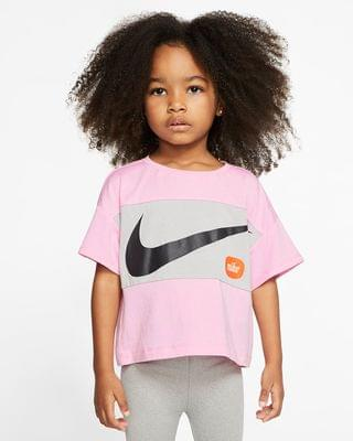 KIDS Toddler Cropped Short-Sleeve Top Nike
