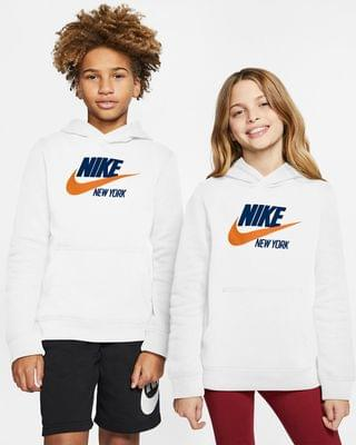 KIDS Big Kids' Pullover Hoodie Nike Sportswear Club Fleece New York