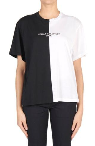 WOMEN Stella McCartney Split 2001 Logo Organic Cotton Tee
