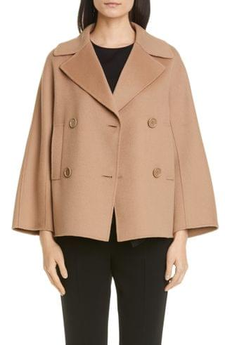 WOMEN Max Mara Connie Double Breasted Wool Coat