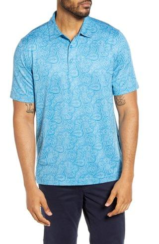 MEN Cutter & Buck Forge DryTec Paisley Performance Polo