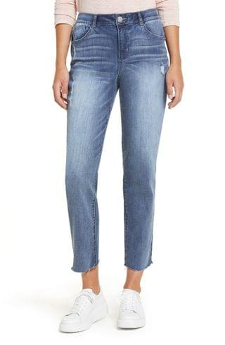 WOMEN Wit & Wisdom Luxe Touch Ab-Solution High Waist Straight Leg Crop Jeans (Nordstrom Exclusive)