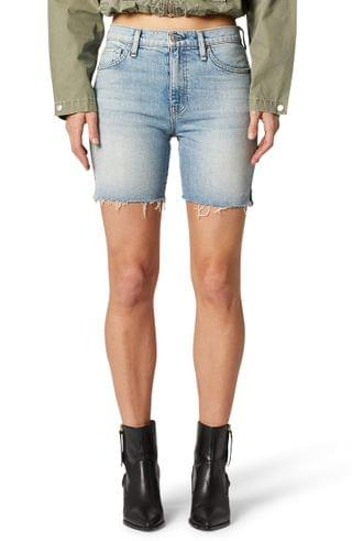 WOMEN Hudson Jeans Hana High Waist Cutoff Denim Biker Shorts