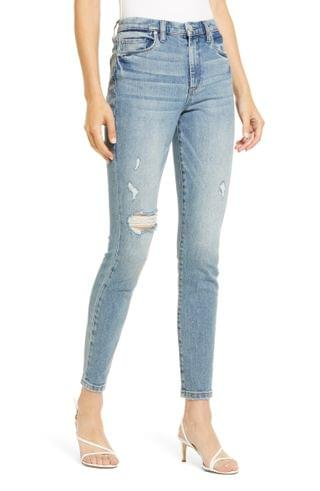 WOMEN BLANKNYC The Great Jones Ripped Skinny Jeans (You're Welcome)