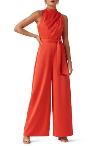 WOMEN Ever New Drape Belted Wide Leg Jumpsuit