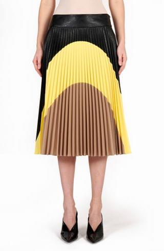 WOMEN Stella McCartney Carmen Pleated Faux Leather Skirt