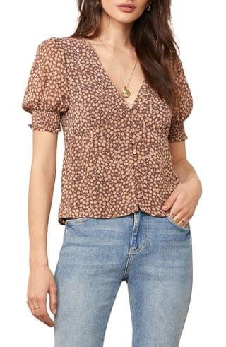 WOMEN BB Dakota Desk to Dinner Floral Top