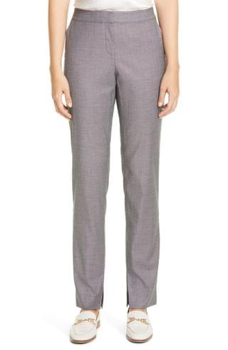 WOMEN Lafayette 148 New York Waldorf Slit Hem Slim Pants
