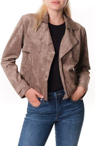 WOMEN BLANKNYC Seal the Deal Faux Suede Crop Trench