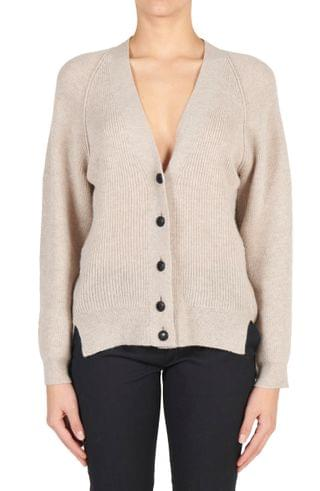 WOMEN Stella McCartney Rib Virgin Wool Cardigan