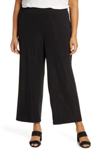 WOMEN Lafayette 148 New York Riverside Matte Jersey Crop Pants (Plus Size)