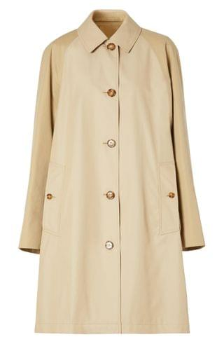 WOMEN Burberry Ely Two-Tone Reconstructed Car Coat