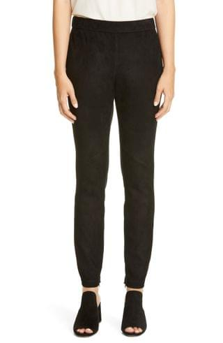 WOMEN Lafayette 148 New York Murray Suede Front Skinny Pants