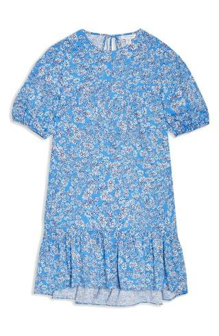 WOMEN Topshop Floral Print Poplin Shift Dress (Petite)
