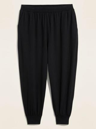 WOMEN High-Waisted Lightweight French Terry Plus-Size Jogger Pants