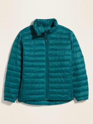 WOMEN Quilted Narrow Channel Plus-Size Puffer Jacket