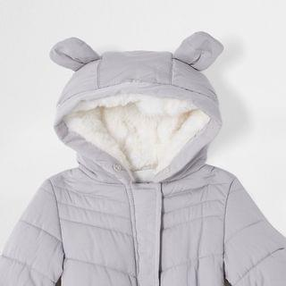 KIDS Baby grey padded snowsuit with ears