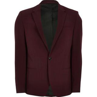 MEN Big and tall dark red suit jacket