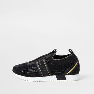 KIDS Boys black cone runner trainer
