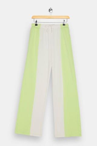WOMEN Lime Green Panel Slouch Sweatpants