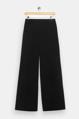 WOMEN Black Seam Wide Leg Pants