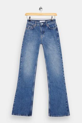 WOMEN Mid Stone 90s Flare Jeans