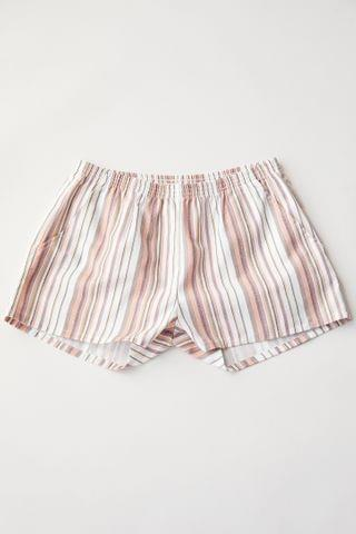 WOMEN Urban Renewal Remnants Striped Pull-On Short