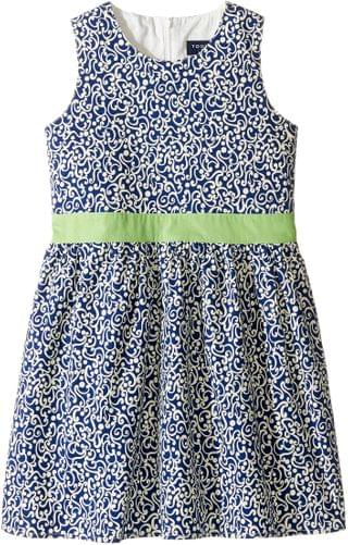 KIDS Belted Navy and White Party Dress (Infant/Toddler/Little Kids/Big Kids). By Toobydoo. 34.99. Style Navy/White/Green.