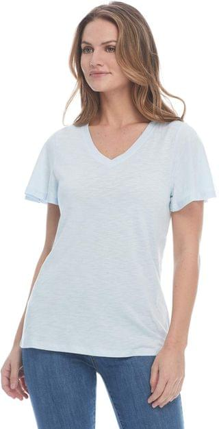WOMEN Short Flare Sleeve V-Neck Top. By FDJ French Dressing Jeans. 56.70. Style Sky.