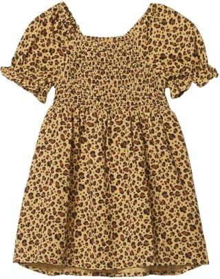 KIDS Lillie Short Sleeve Dress (Toddler/Little Kids/Big Kids). By COTTON ON. 18.84. Style Sand Dune/Snow Leopard.