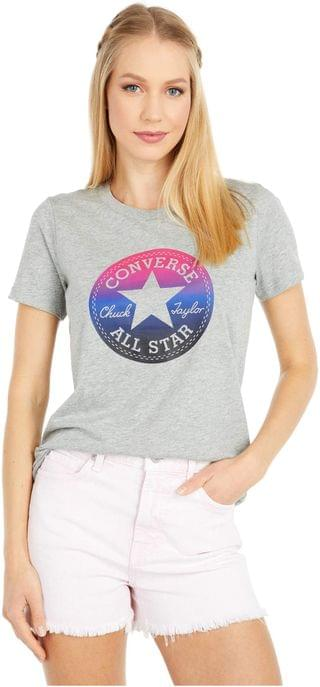 WOMEN Ombre Chuck Patch T-Shirt. By Converse. 25.00. Style Vintage Grey Heather.