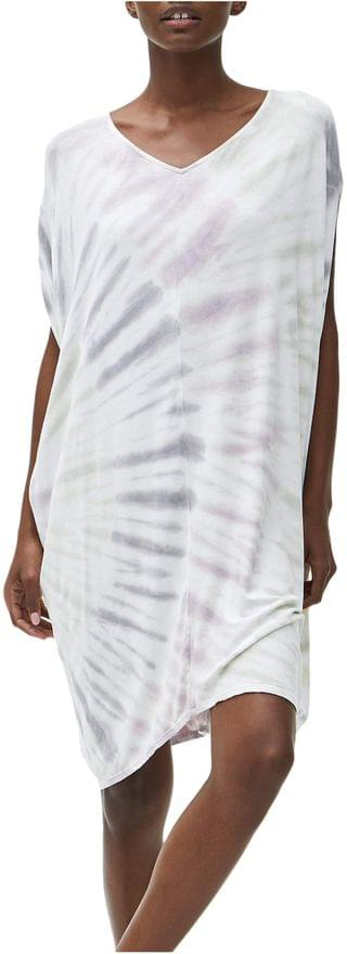 WOMEN Kita Tie-Dye Firework Wash Cocoon Midi Dress in Luxe Jersey. By Michael Stars. 142.20. Style Faded Black.