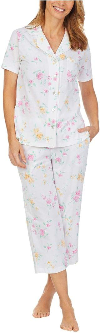 WOMEN Soft Jersey Short Sleeve Capris Pajama Set. By Carole Hochman. 61.20. Style White Multi Floral. Rated 5 out of 5 stars.