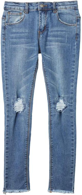 KIDS Drea Jeans in Mid Wash/Rip/Repair (Toddler/Little Kids/Big Kids). By COTTON ON. 24.99. Style Mid Wash/Rip/Repair.