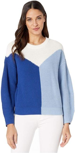 WOMEN Crew Neck Color Blocked Cotton Sweater. By 1.STATE. 44.50. Style Navy Sea. Rated 2 out of 5 stars.