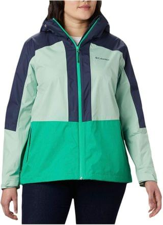 WOMEN Plus Size Windgates Jacket. By Columbia. 75.68. Style Dark Lime/New Mint/Nocturnal.