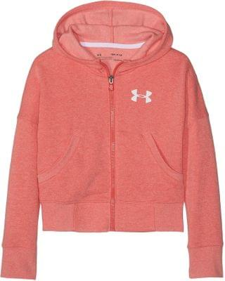 KIDS Rival Full Zip (Big Kids). By Under Armour Kids. 30.00. Style Daiquiri Light Heather/Beta Red.