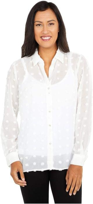 WOMEN Billa Button-Down Shirt with Long Sleeve. By KUT from the Kloth. 68.00. Style Off-White.
