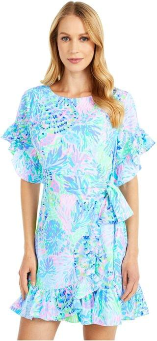 WOMEN Darlah Stretch Dress. By Lilly Pulitzer. 218.00. Style Multi Shell Of A Party.