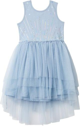 KIDS Iris Tulle Dress (Toddler/Little Kids/Big Kids). By COTTON ON. 39.99. Style Dusty Blue Tiered/Sparkle Stars.