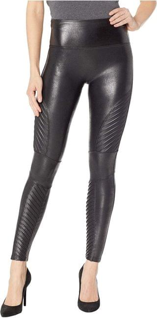 WOMEN Faux Leather Moto Leggings. By Spanx. 110.00. Style Very Black. Rated 4 out of 5 stars.