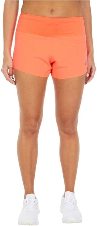"""WOMEN Road 3.5"""" Shorts. By ASICS. 40.00. Style Flash Coral. Rated 3 out of 5 stars."""