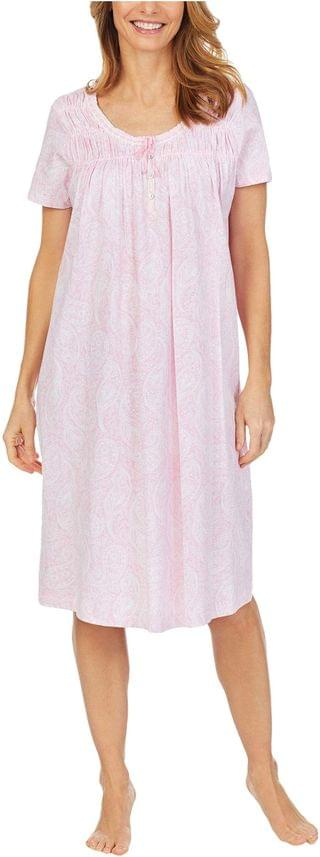 WOMEN Soft Jersey Short Sleeve Waltz Gown. By Carole Hochman. 51.96. Style Pink Paisley. Rated 3 out of 5 stars.