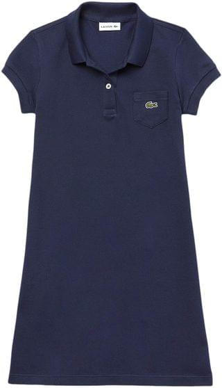KIDS Classic Pique Dress with Pocket (Toddler/Little Kids/Big Kids). By Lacoste Kids. 52.05. Style Navy Blue.