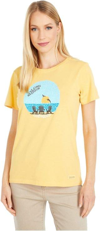 WOMEN Sunset Chairs Crusher Tee. By Life is Good. 21.99. Style Baja Yellow.