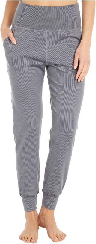 WOMEN Heather Rib Midi Joggers. By Beyond Yoga. 110.00. Style Gray Heather.
