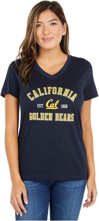 WOMEN Cal Bears University 2.0 V-Neck T-Shirt. By Champion College. 27.95. Style Marine Midnight Navy.