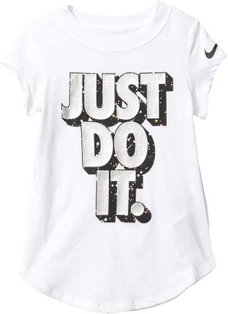 KIDS Starry Night Just Do It Logo Short Sleeve Graphic T-Shirt (Toddler/Little Kids). By Nike Kids. 15.30. Style White.